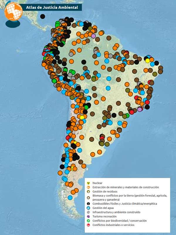 Infografía Justicia ambiental en Sudamérica
